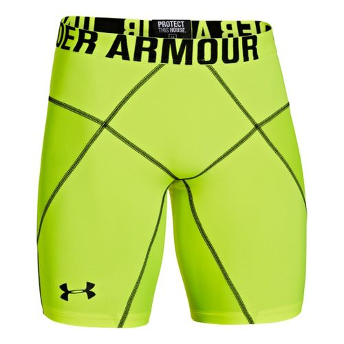 Mens Under Armour Coreshort Prima Fitted Shorts - High Vis Yellow/Black M