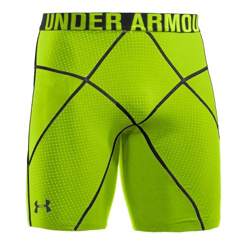Mens Under Armour Coreshort Prima Fitted Shorts - Hyper Green/Hyper Green S