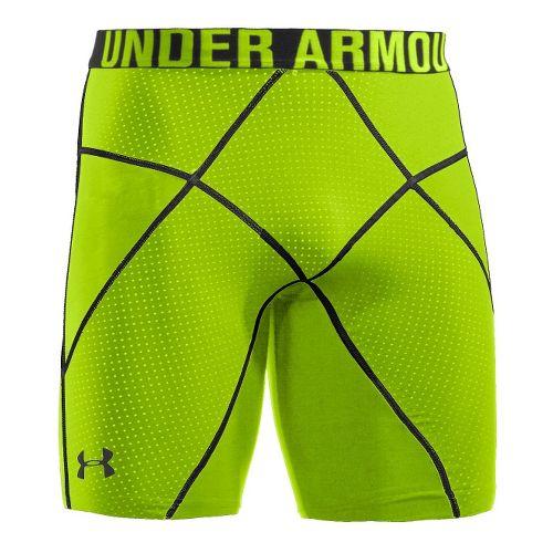 Mens Under Armour Coreshort Prima Fitted Shorts - Hyper Green/Hyper Green XXL