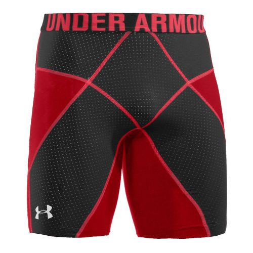 Mens Under Armour Coreshort Prima Fitted Shorts - Red/Black XXL