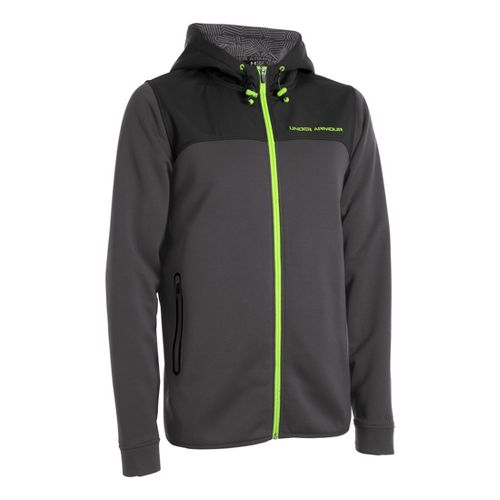 Mens Under Armour Coldgear Infrared Armour Fleece Full Zip Hoody Running Jackets - ...