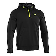 Mens Under Armour Coldgear Infrared Armour Fleece 1/4 Zip Hoody Long Sleeve Technical Tops