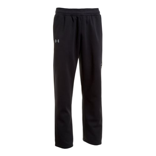 Mens Under Armour Coldgear Infrared Armour Fleece Storm Full Length Pants - Black/Black XL