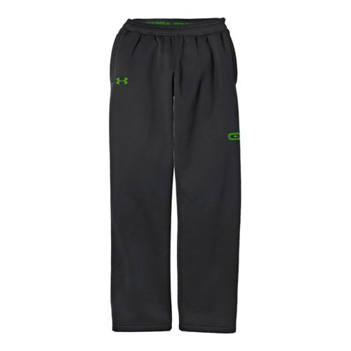 Mens Under Armour Coldgear Infrared Armour Fleece Storm Full Length Pants - Charcoal/Black XLT
