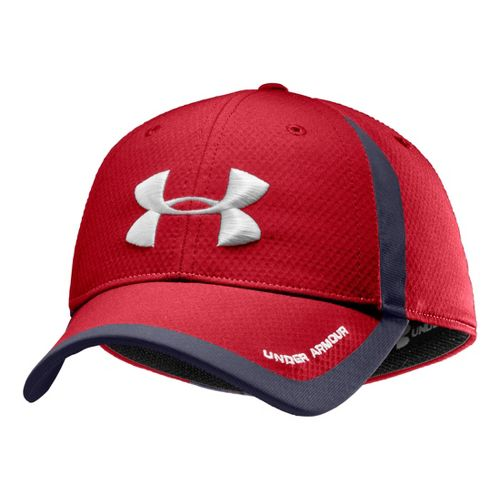 Mens Under Armour Touchback Stretch Fit Cap Headwear - Red/White M/L