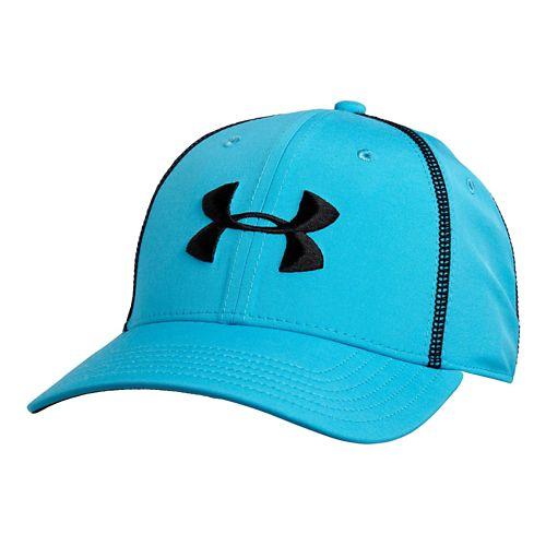 Mens Under Armour Huddle II Stretch Fit Cap Headwear - Island Blues L/XL