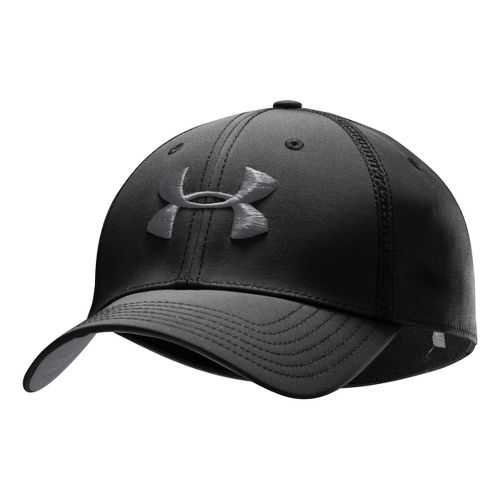Mens Under Armour Huddle II Stretch Fit Cap Headwear - Black/Graphite M/L