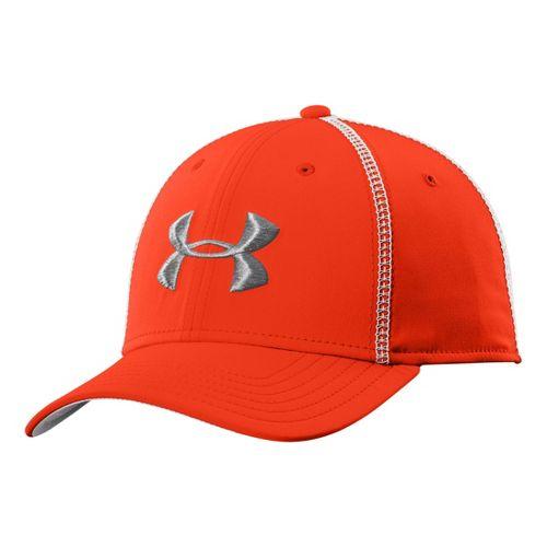 Mens Under Armour Huddle II Stretch Fit Cap Headwear - Volcano L/XL