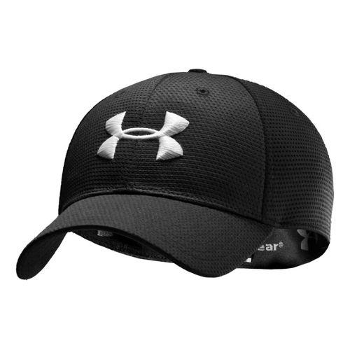 Mens Under Armour Blitzing Stretch Fit Cap Headwear - Black/White M/L