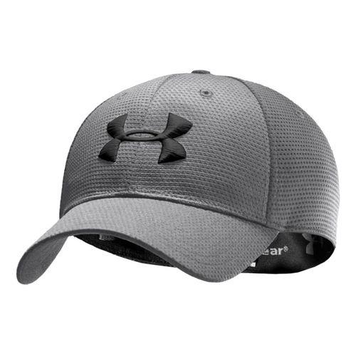 Mens Under Armour Blitzing Stretch Fit Cap Headwear - Graphite/Black M/L