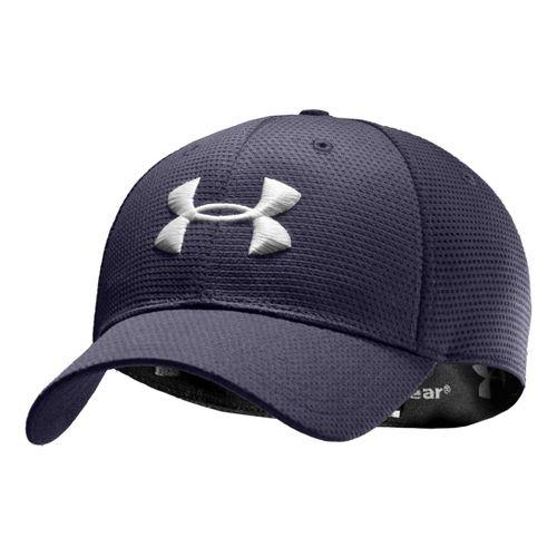 Mens Under Armour Blitzing Stretch Fit Cap Headwear - Midnight Navy/White L/XL