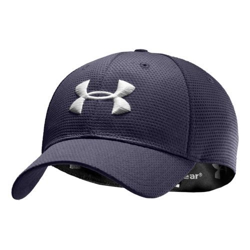 Mens Under Armour Blitzing Stretch Fit Cap Headwear - Midnight Navy/White XL/XXL