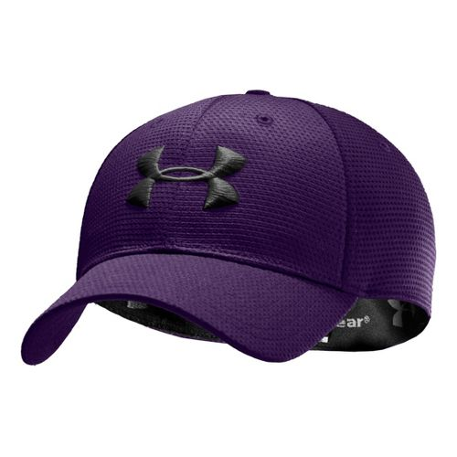 Mens Under Armour Blitzing Stretch Fit Cap Headwear - Purple/Black L/XL