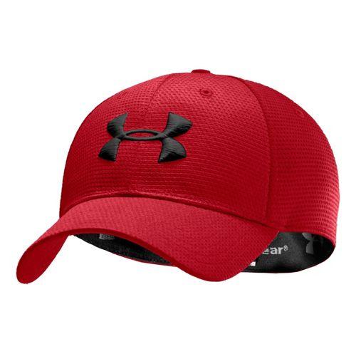 Mens Under Armour Blitzing Stretch Fit Cap Headwear - Red/Black XL/XXL