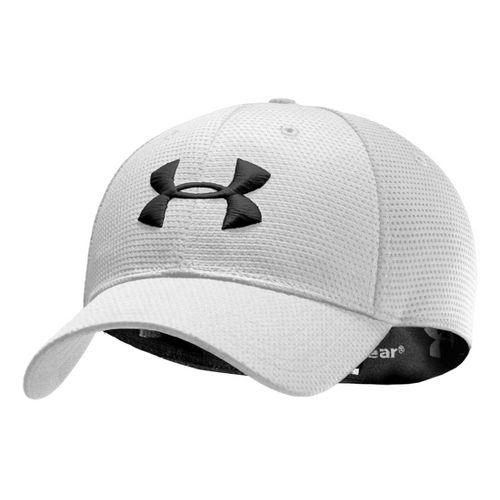 Mens Under Armour Blitzing Stretch Fit Cap Headwear - White/Black L/XL