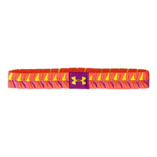 Womens Under Armour Eliptic Headband Headwear - Electric Tangerine/Strobe