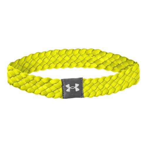 Womens Under Armour Multi Braided Headband Headwear - High Vis Yellow/High Vis Yellow