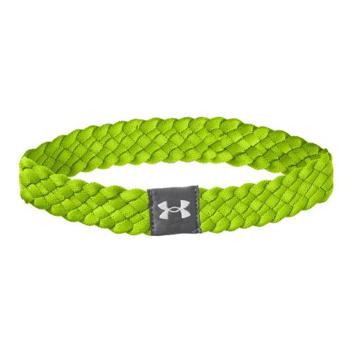 Womens Under Armour Multi Braided Headband Headwear - Hyper Green/Graphite