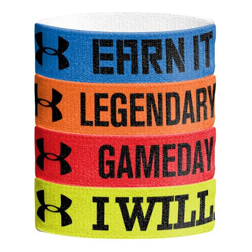 Mens Under Armour Graphic Wristbands Handwear - Royal/Fuego