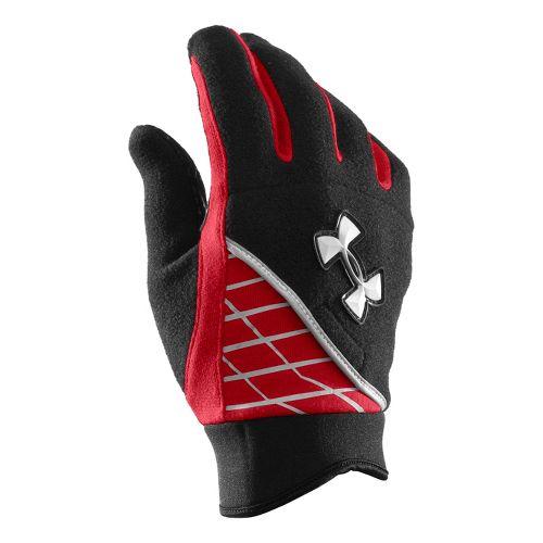 Mens Under Armour Fleece Glove Handwear - Black/Red S/M