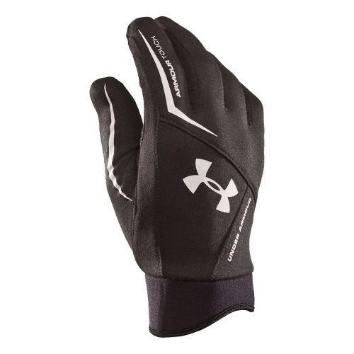 Mens Under Armour ColdGear Tech Glove Handwear - Black/Black S/M