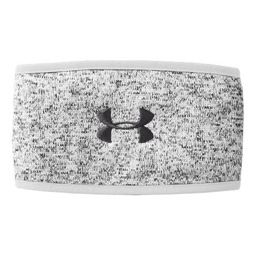 Womens Under Armour Rally Headband Headwear - White/Charcoal