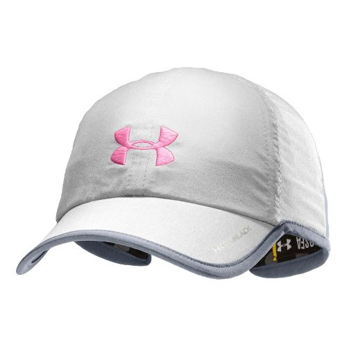 Womens Under Armour Shadow Cap Headwear - White/Steel