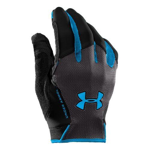 Mens Under Armour CTR Trainer Grip Glove Handwear - Black/Electric Blue XXL