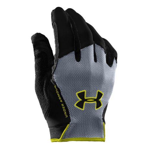 Mens Under Armour CTR Trainer Grip Glove Handwear - Black/Steel L