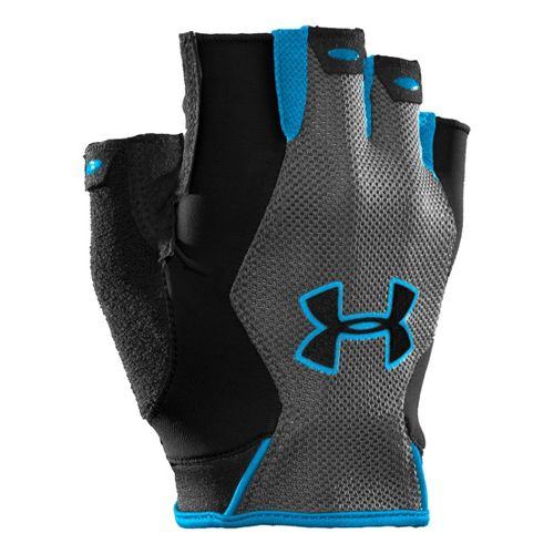 Mens Under Armour CTR Trainer HF Glove Handwear - Black/Electric Blue S
