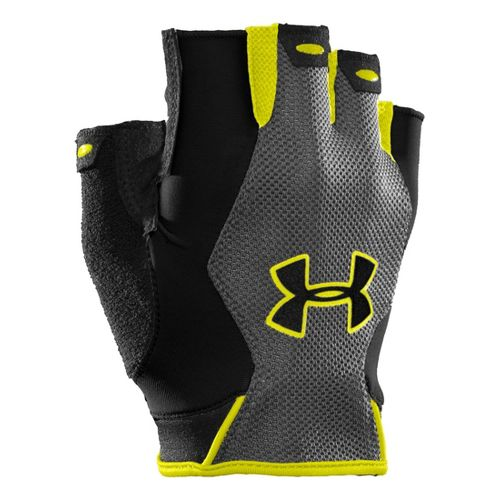 Mens Under Armour CTR Trainer HF Glove Handwear - Black/Flash Light L