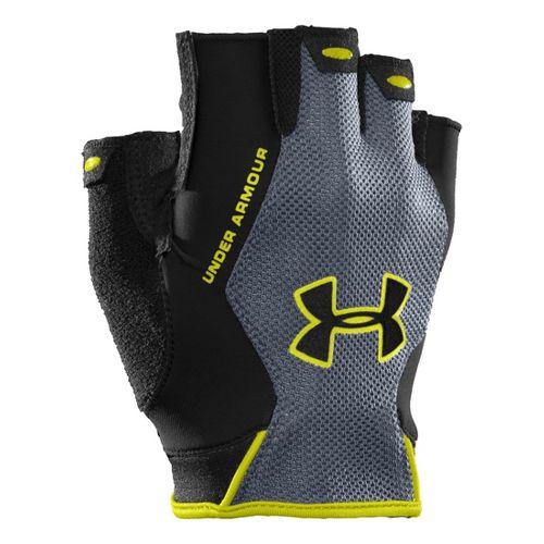 Mens Under Armour CTR Trainer HF Glove Handwear - Black/Steel M