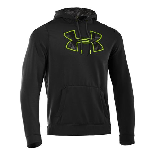 Mens Under Armour Fleece Storm Printed Big Logo Hoody Long Sleeve No Zip Technical Tops ...