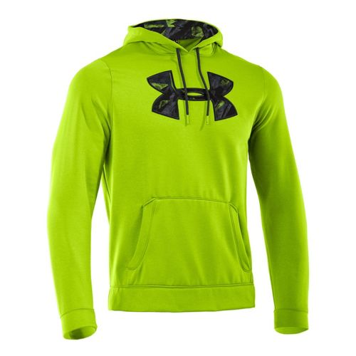 Mens Under Armour Fleece Storm Printed Big Logo Hoody Long Sleeve No Zip Technical Tops ...