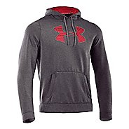 Mens Under Armour Fleece Storm Printed Big Logo Hoody Long Sleeve No Zip Technical Tops