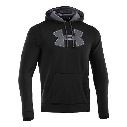 Mens Under Armour Fleece Storm Big Logo Hoody Long Sleeve No Zip Technical Tops - ...