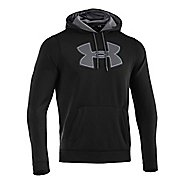 Mens Under Armour Fleece Storm Big Logo Hoody Long Sleeve No Zip Technical Tops