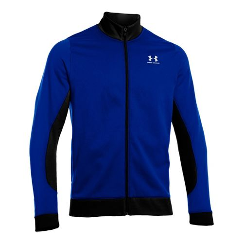 Mens Under Armour Fleece Storm Running Jackets - Moon Shadow/Black XXL