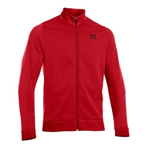 Mens Under Armour Fleece Storm Running Jackets - Red/Black MT