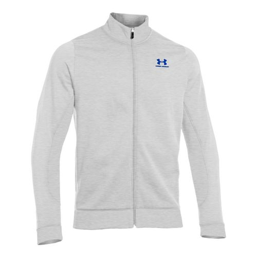 Mens Under Armour Fleece Storm Running Jackets - Silver Heather/Moon Shadow MT
