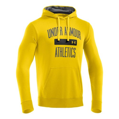 Mens Under Armour Storm Cotton Battle Hoody Long Sleeve No Zip Technical Tops - Taxi/Graphite ...