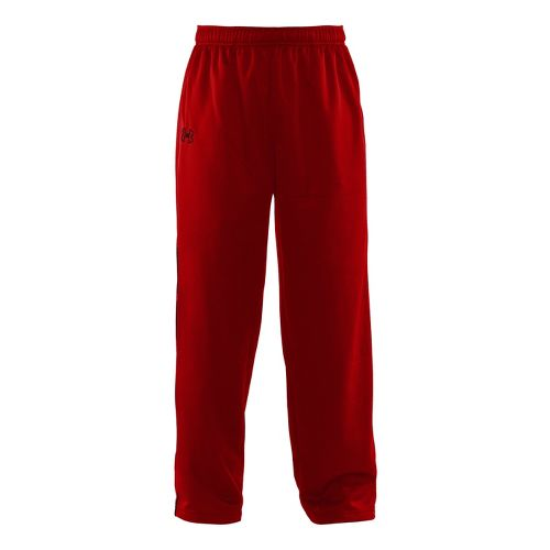 Mens Under Armour Tech Fleece Full Length Pants - Red/Black XXL