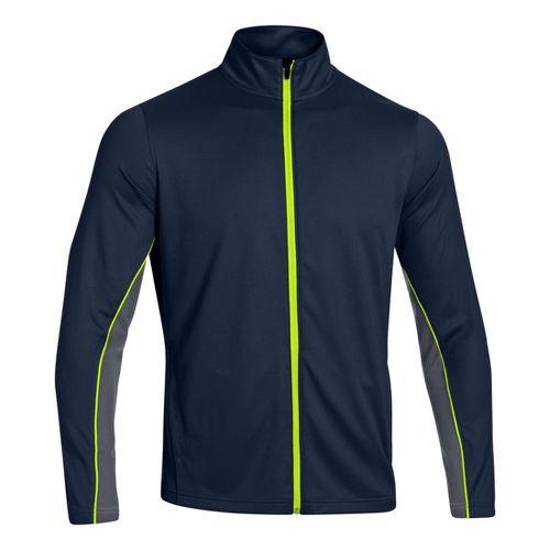 Mens Under Armour Reflex Warm-Up Running Jackets - Academy/High Vis Yellow 3XLT