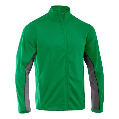Mens Under Armour Reflex Warm-Up Running Jackets - Astro Green/Graphite XL