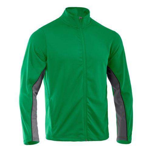Mens Under Armour Reflex Warm-Up Running Jackets - Astro Green/Graphite XXLT
