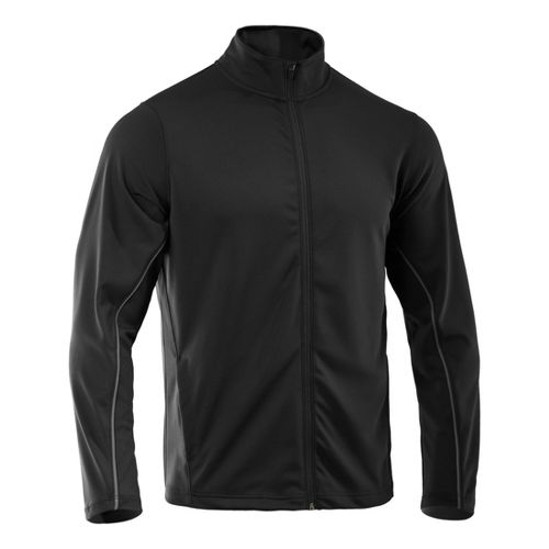 Mens Under Armour Reflex Warm-Up Running Jackets - Black/Black M