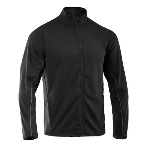 Mens Under Armour Reflex Warm-Up Running Jackets - Black/Black XXLT