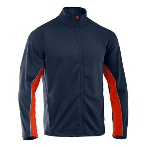 Mens Under Armour Reflex Warm-Up Running Jackets - Cadet/Explosive 3XLT