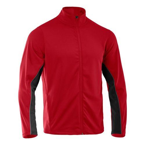 Mens Under Armour Reflex Warm-Up Running Jackets - Red/Black L