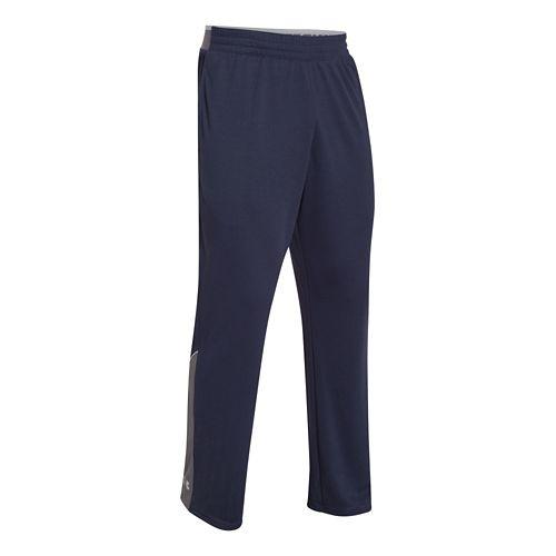 Mens Under Armour Reflex Warm-Up Full Length Pants - Midnight/Graphite M-R